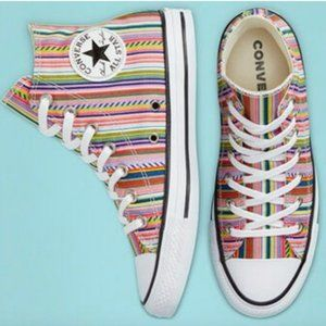 NEW Converse Allstar Chuck Taylor Summer Stripes High Top Sneakers Size 11 W 9 M